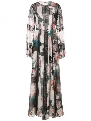 Длинное платье с цветочным принтом Empress Sachin & Babi. Цвет: чёрный
