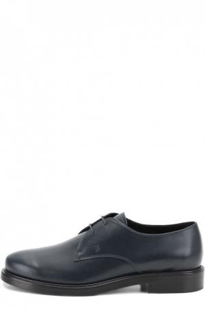 Кожаные дерби Gomma на шнуровке Tod's. Цвет: темно-синий