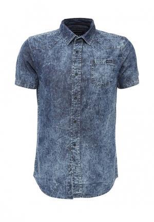 Рубашка джинсовая Fresh Brand. Цвет: синий