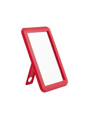 Зеркало Beiron 066 настольное, односторонее, 9, 5*14, 5см. Цвет: красный