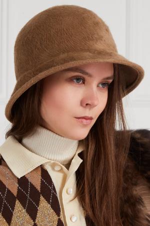 Шляпа из ворсового материала Marc Jacobs. Цвет: бежевый