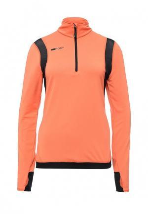 Лонгслив спортивный Roxy. Цвет: оранжевый
