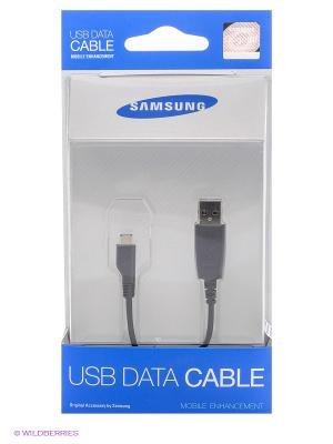 Дата-кабель USB-microUSB Samsung. Цвет: черный