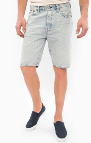 Голубые джинсовые шорты с застежкой на болты Levi's®. Цвет: голубой