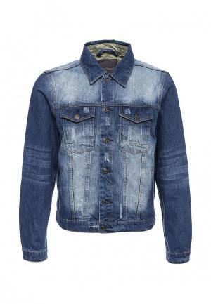 Куртка джинсовая Bruebeck. Цвет: синий