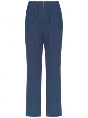 Straight-leg trousers Olympiah. Цвет: синий