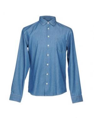 Джинсовая рубашка BOSS ORANGE. Цвет: синий