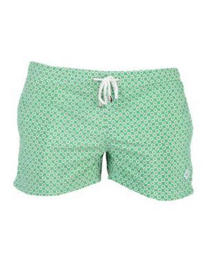 Пляжные брюки и шорты LUIGI BORRELLI NAPOLI. Цвет: зеленый