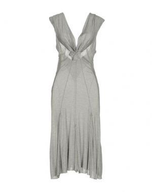 Платье до колена ROBERTA SCARPA. Цвет: серый