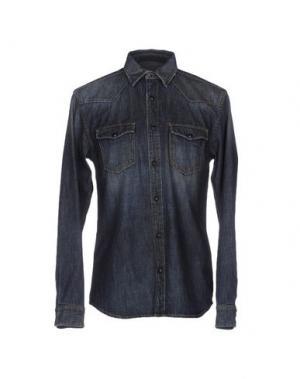 Джинсовая рубашка R.D.D. ROYAL DENIM DIVISION BY JACK & JONES. Цвет: синий
