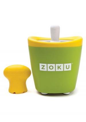 Набор для приготовления мороженого Single Quick Pop Maker Zoku. Цвет: зеленый, фиолетовый