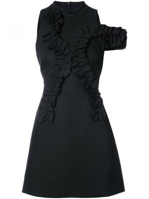 Платье с оборкой Jackson Acler. Цвет: чёрный