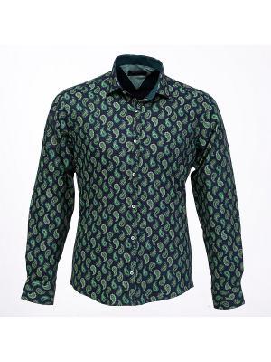 Рубашка BAWER. Цвет: синий