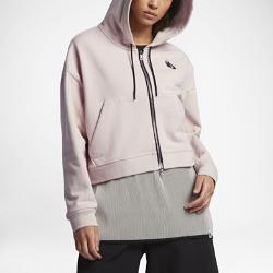 Женская флисовая худи Lab Essentials Cropped Nike. Цвет: коричневый