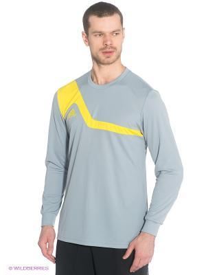 Лонгслив Adidas. Цвет: серый, желтый