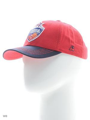 Бейсболка ПБК ЦСКА Atributika & Club. Цвет: красный, синий