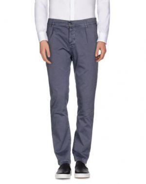 Повседневные брюки NOVEMB3R. Цвет: грифельно-синий