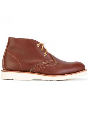 Ботинки чукка Red Wing Shoes. Цвет: коричневый