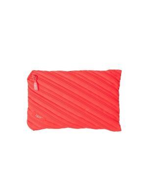 Пенал-сумочка NEON JUMBO POUCH, цвет персиковый ZIPIT. Цвет: оранжевый