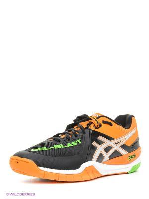 Кроссовки GEL-BLAST 6 ASICS. Цвет: черный, серебристый, оранжевый