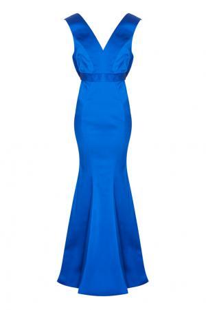 Однотонное платье Santia Zac Posen. Цвет: синий