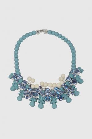 Колье с кристаллами Ek Thongprasert. Цвет: голубой