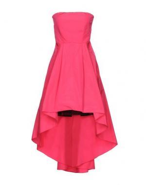 Короткое платье PINKO. Цвет: фуксия