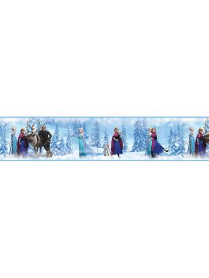 Наклейки для декора Холодное сердце, орнамент ROOMMATES. Цвет: синий, голубой, серый, фиолетовый, черный