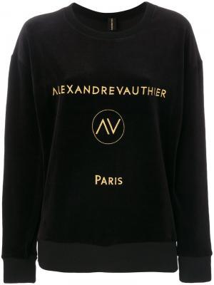Толстовка с логотипом Alexandre Vauthier. Цвет: чёрный