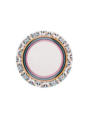 Набор тарелок обеденных ТОДО 26 см 6 шт Biona. Цвет: белый