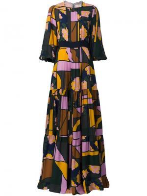 Платье макси Roksanda. Цвет: многоцветный
