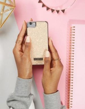 Skinnydip Чехол для iPhone 6/6S/7 с блестками персикового цвета. Цвет: мульти
