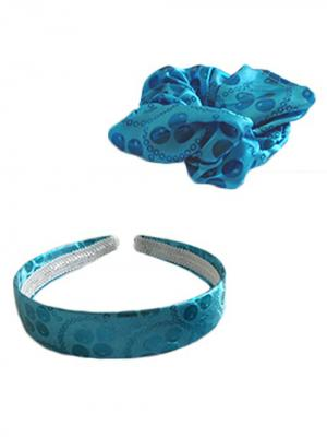 Набор для волос (Ободок, резинка) City Flash. Цвет: синий, белый