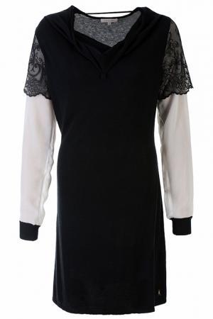 Платье с длинным рукавом Patrizia Pepe. Цвет: черный