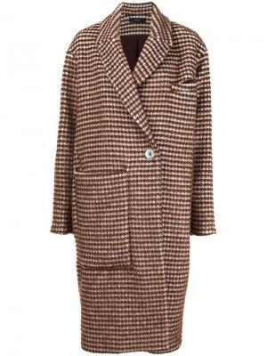 Однобортное пальто Ellery. Цвет: коричневый