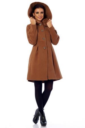 Пальто 4 Lilou. Цвет: коричневый