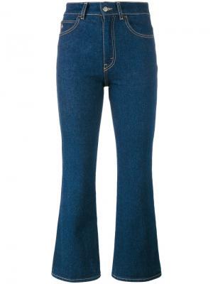Расклешенные укороченные джинсы Attico. Цвет: синий