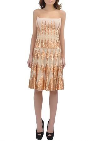 DRESS Faust. Цвет: beige and gold