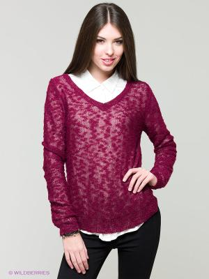 Пуловер Solo Farfalle. Цвет: темно-красный