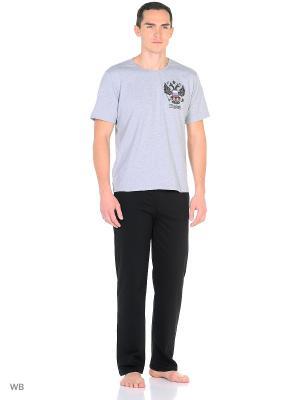 Костюм мужской (футболка, брюки) MARSOFINA. Цвет: серый, черный