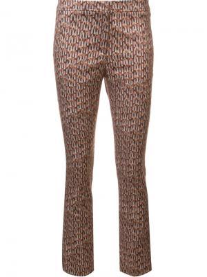 Укороченные брюки с геометрическим узором Ql2. Цвет: жёлтый и оранжевый