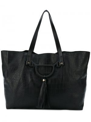 Большая сумка-тоут Borbonese. Цвет: чёрный