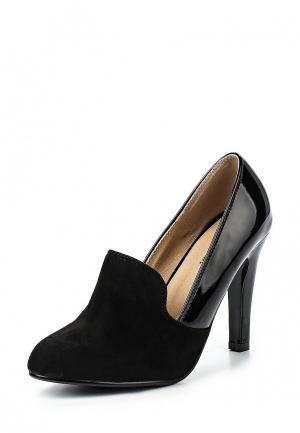 Лоферы Exquily. Цвет: черный