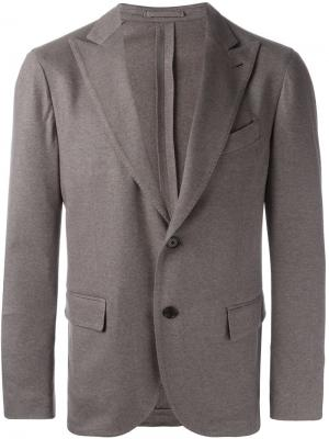 Однобортный пиджак Lardini. Цвет: серый