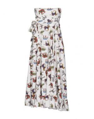 Платье до колена MARIUCCIA. Цвет: зеленый