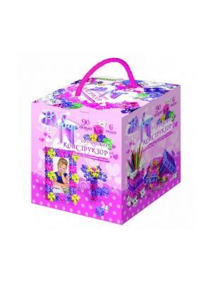 Конструктор:  Кубус №2 90 элементов БИПЛАНТ.. Цвет: розовый