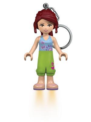 Брелок-фонарик для ключей LEGO FRIENDS - Mia. Цвет: салатовый, бордовый, голубой, бежевый