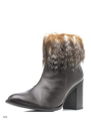 Ботинки Pixy. Цвет: темно-коричневый