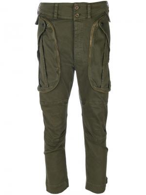 Укороченные брюки карго Faith Connexion. Цвет: зелёный