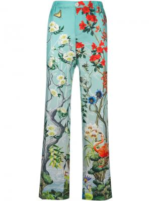 Printed trousers F.R.S For Restless Sleepers. Цвет: зелёный